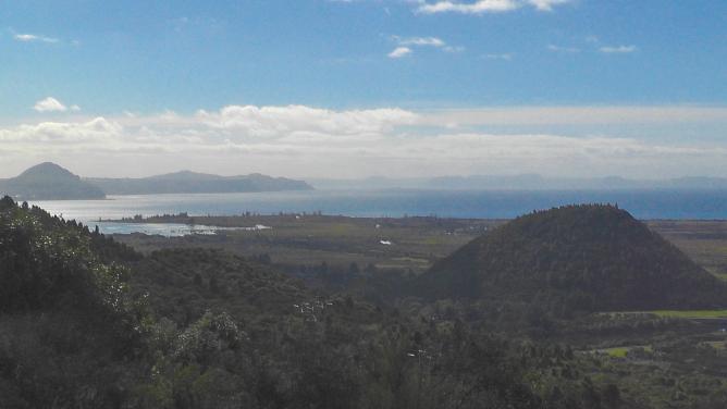 Lake Taupo from above Turangi